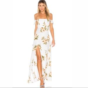 Flynn Sky Bardot maxi dress